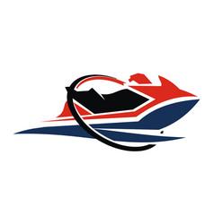 Jet ski motor boat vector