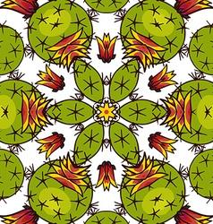 Kaleidoscope of succulents vector
