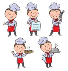 Kids chefs vector image