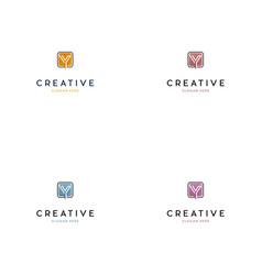 letter y creative logo design vector image