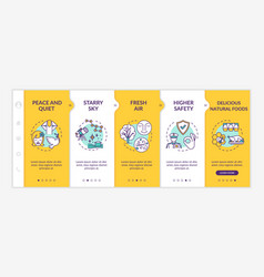 Living outside city onboarding template vector