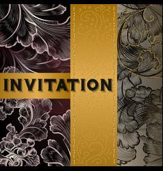 Luxury menu template or invitation card vector