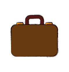 Luxury suitcase with professional businessman vector