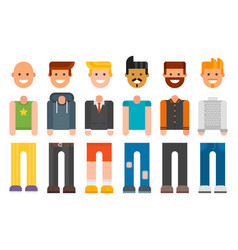 Man constructor body avatar creator cartoon vector