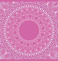 Mandala rituals spiritual classic pink background vector
