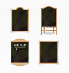 Menu black board empty cafe menu set vector