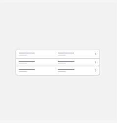 menu web element vector image