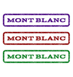 Mont blanc watermark stamp vector