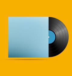 old black vinyl vector image