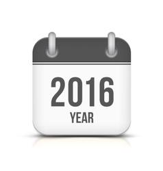 Old year 2016 monochrome calendar icon vector