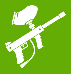 Paintball marker icon green vector