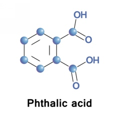 Phthalic acid aromatic vector