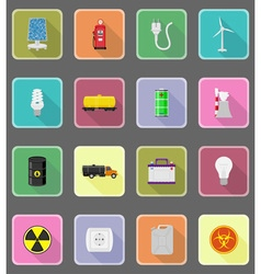 Power and energy flat icons 20 vector