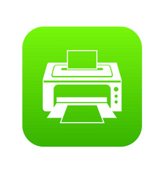 printer icon digital green vector image