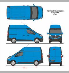 Renault trafic cargo delivery van l1h2 2014 vector