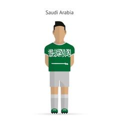 Saudi Arabia football player Soccer uniform vector