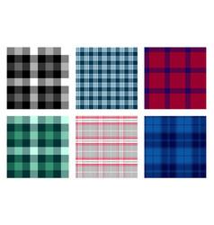 Seamless checkered plaid pattern bundle 6 vector