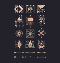 Set sacred geometry vector