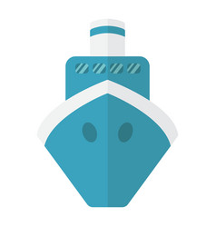 ship flat icon transport and boat travel sign vector image