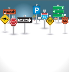 signs background vector image