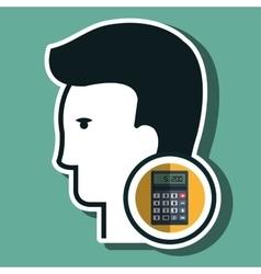 Silhouette calculator maths icon vector