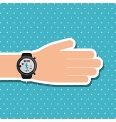smart watch design vector image