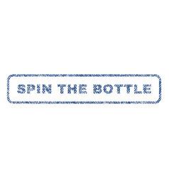 Spin bottle textile stamp vector