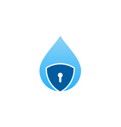 splash security logo icon design vector image