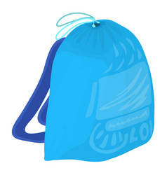 Sport backpack icon cartoon style vector