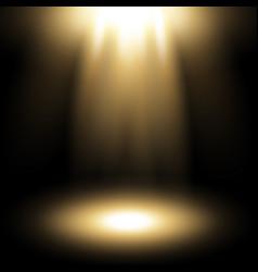 Spotlight golden color vector
