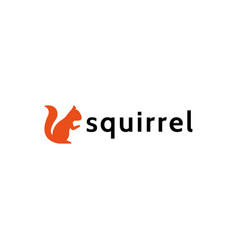 Squirrel logo in a flat style forest animal vector