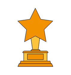 star trophy icon image vector image