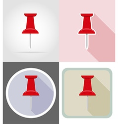 stationery flat icons 05 vector image vector image