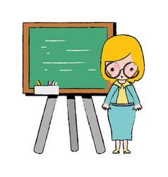Teacher teaching class lesson in the backcoard vector