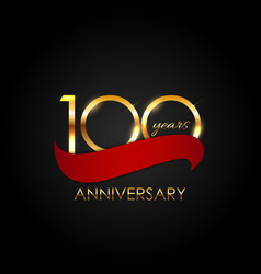 template 100 years anniversary vector image