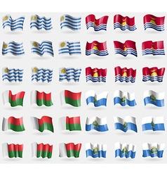 Uryguay Kiribati Madagascar San Marino Set of 36 vector