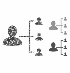 user scheme composition icon raggy parts vector image