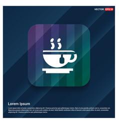 Warm drink icon vector