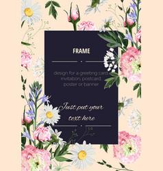 wedding invitation floral invite thank you vector image