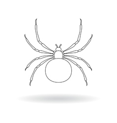 White silhouette of a spider vector
