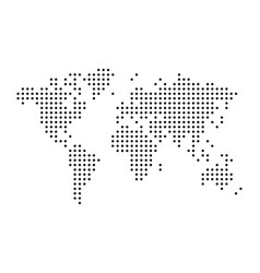 world map drawn with dots simple black vector image