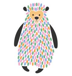 a cartoon bear stylized vector image