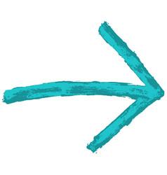 arrow sign watercolour style vector image