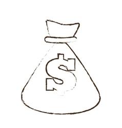 Bag money dollar cash sketch vector