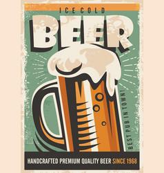 beer retro poster design vector image