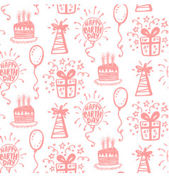 Birthday party seamless patterns vector