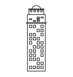 building architecture structure skyscraper outline vector image