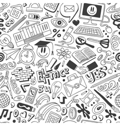 Education - seamless background vector image