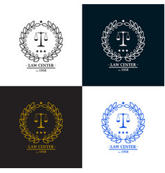 law firm office center logo desig vector image