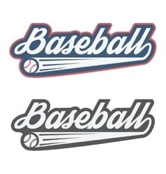 Vintage baseball label and badge vector image